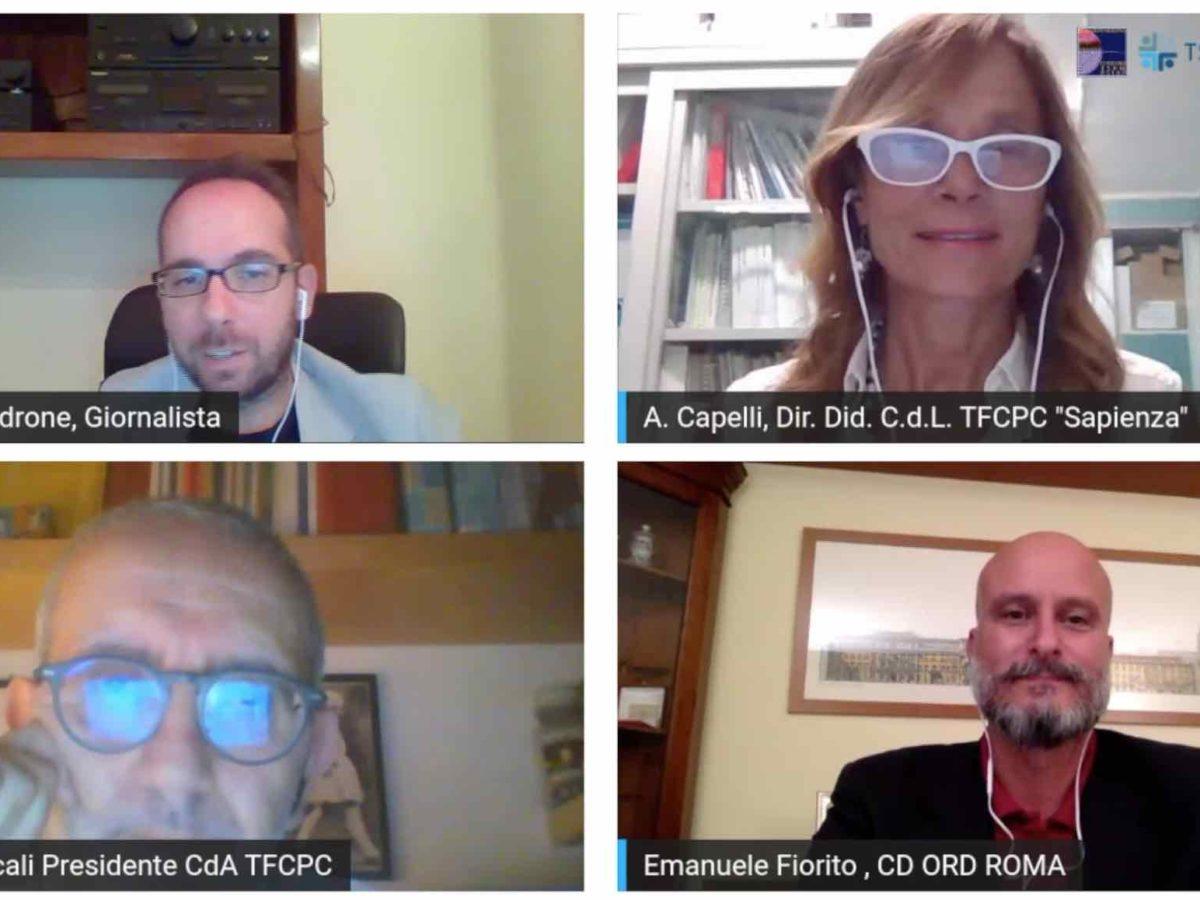 Lotta all'abusivismo, tirocini e ruolo dei tutor: Salvatore Scali (CdA) e Alessandra Capelli (Umberto I) nella videointervista con i TFCPC
