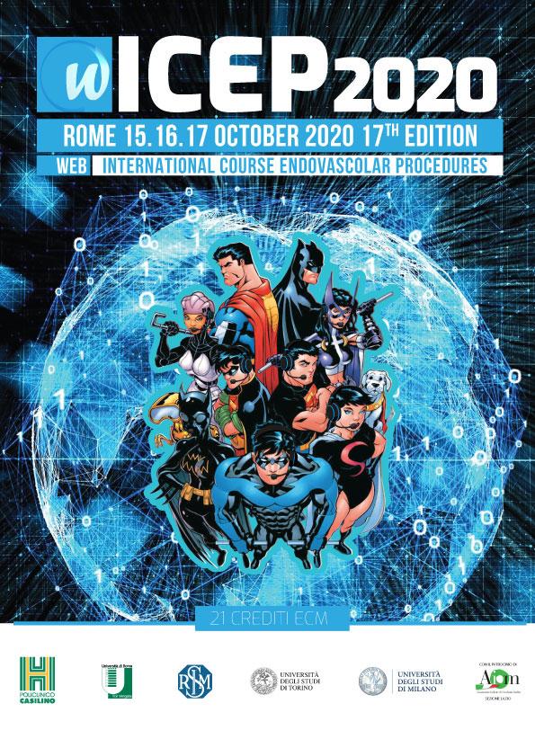 Dal 15 al 17 ottobre a Roma il corso ICEP 2020 sulle procedure endovascolari che quest'anno sbarca sul web