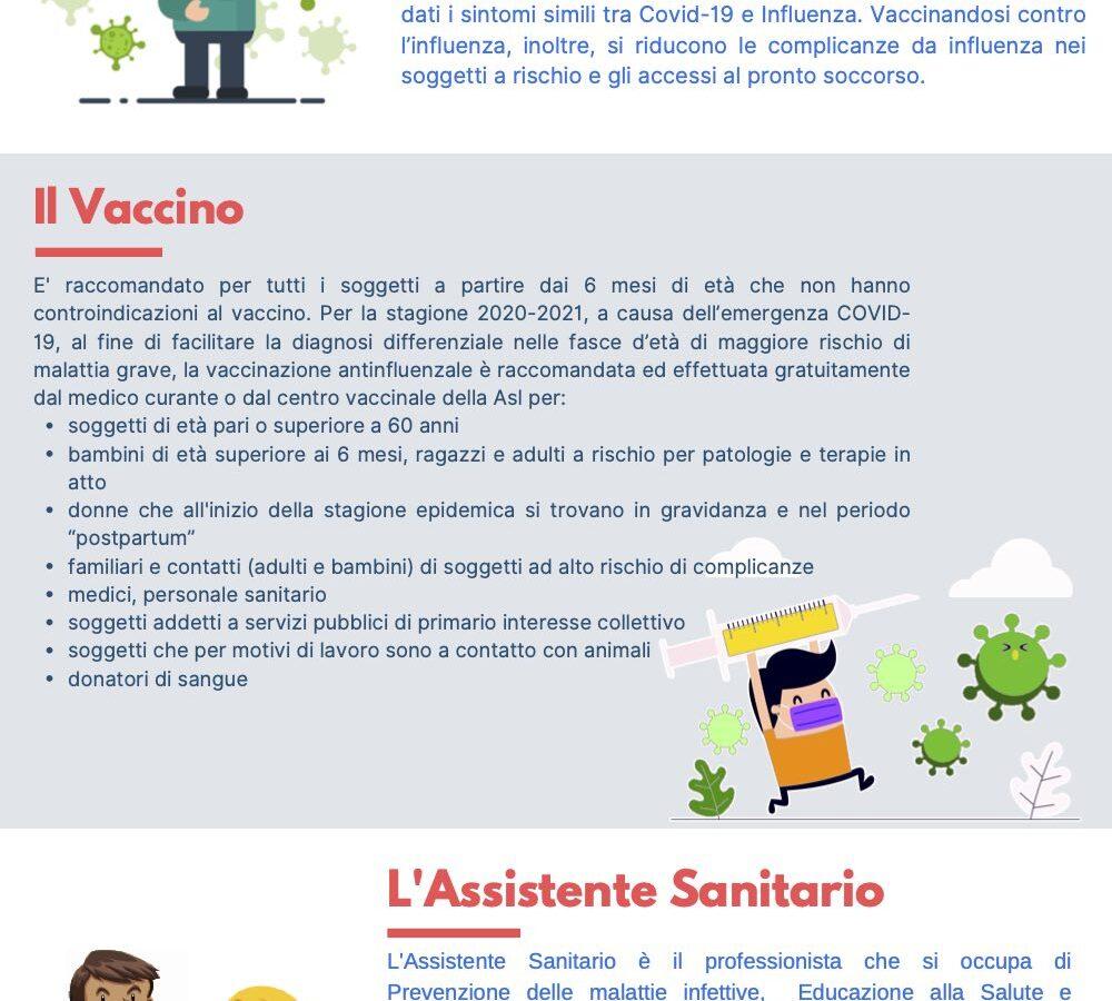 «Non farti influenzare», gli Assistenti Sanitari in campo per la campagna vaccinale contro l'influenza 2020-2021