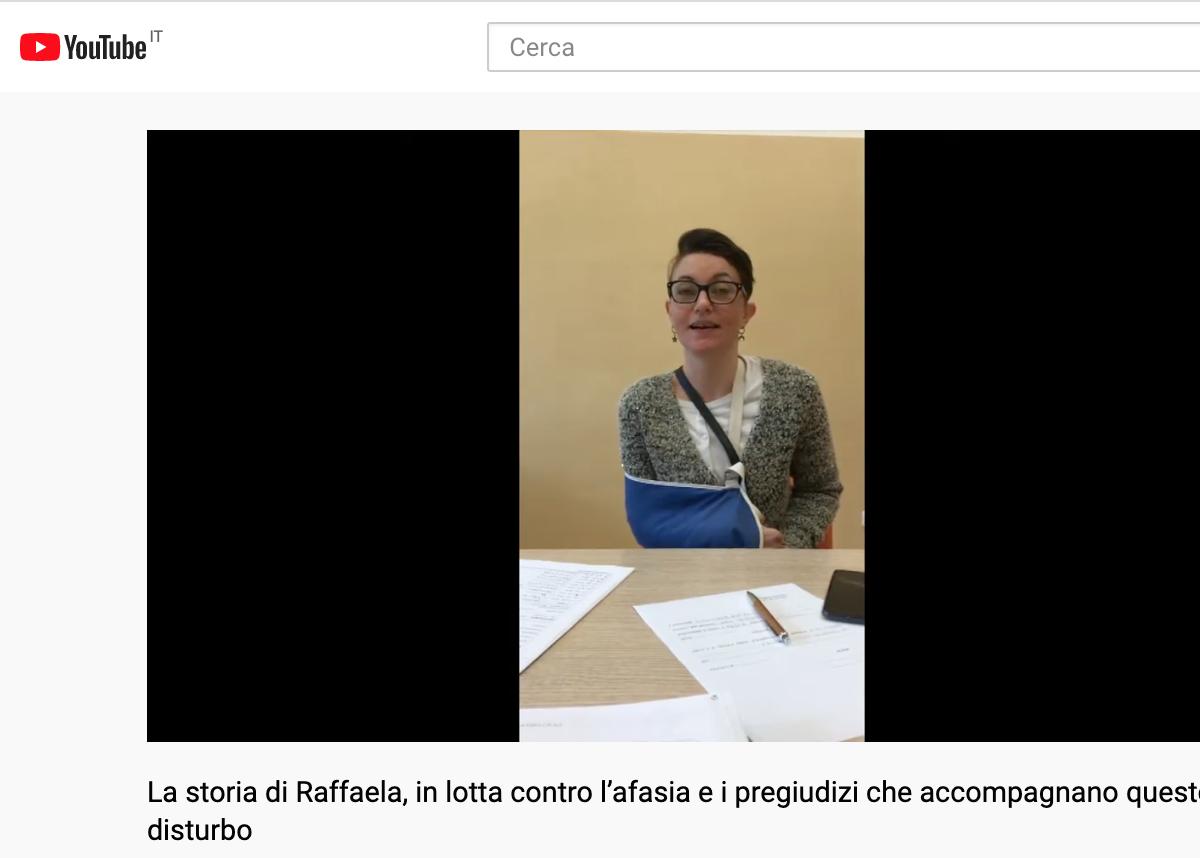 La storia di Raffaela, in lotta contro l'afasia e i pregiudizi che accompagnano questo disturbo