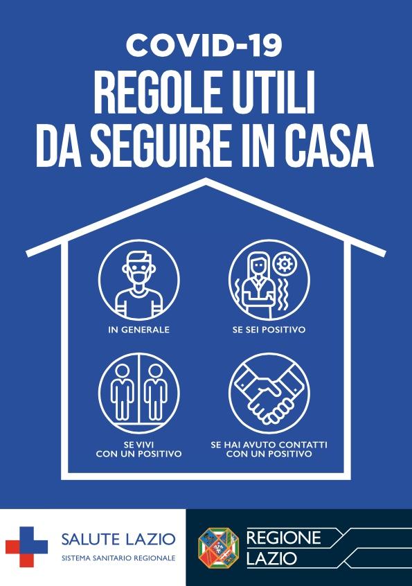 Covid 19, il vademecum della Regione Lazio spiega in poche regole i corretti comportamenti da tenere in casa