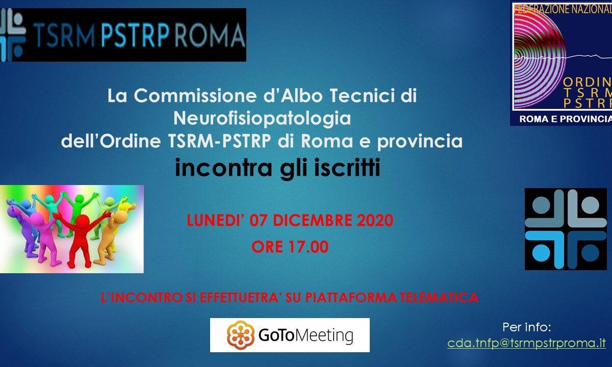 Tecnici di Neurofisiopatologia, il 7 dicembre la CdA incontra gli iscritti in modalità telematica