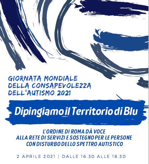 """Giornata della consapevolezza dell'autismo, il 2 aprile webinar dell'Ordine """"Dipingiamo il territorio di blu"""""""