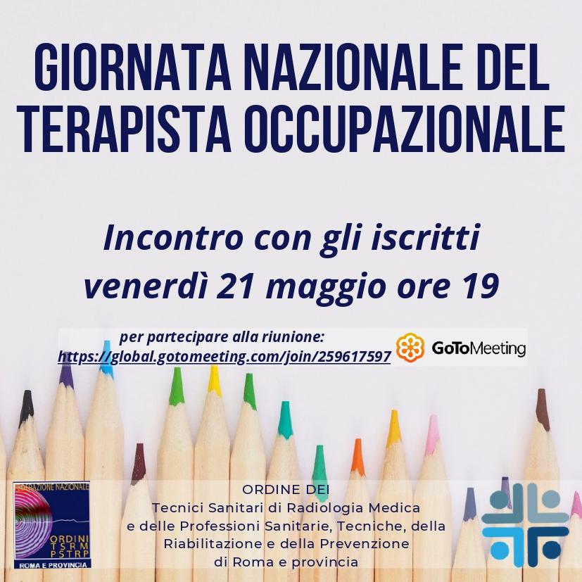 I Terapisti Occupazionali celebrano 24 anni con un evento online aperto agli iscritti