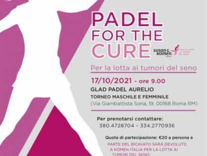 """""""Padel for the Cure"""", l'Ordine di Roma patrocina il torneo di Komen Italia. Ecco come fare per partecipare"""